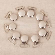 10 forma redonda chupeta suspender clipes titular artesanato com inserção de plástico 2.5cm