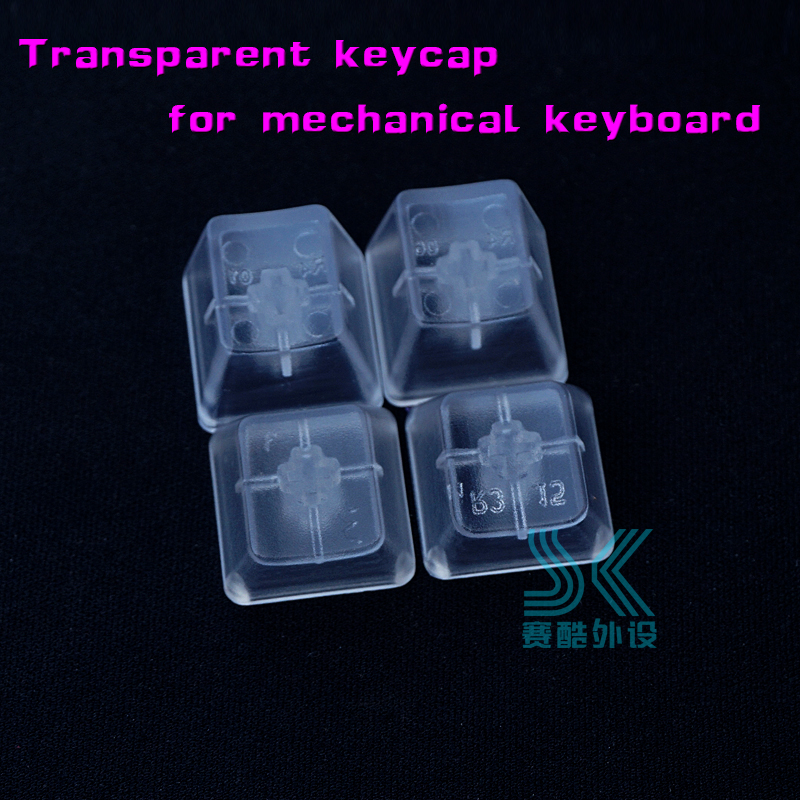 Mechanical Keyboard Transparent Keycaps R1 R2 R3 R4 OEM Height  Keycap No Printed ABS Matte Feel 4pcs/pack