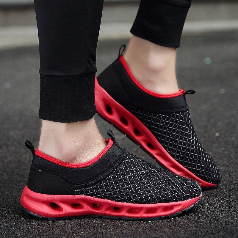 Chaussures de sport légères en tissu maille pour hommes chaussures de course à pédale paresseux printemps et automne nouvelles chaussures de sport pour étudiants