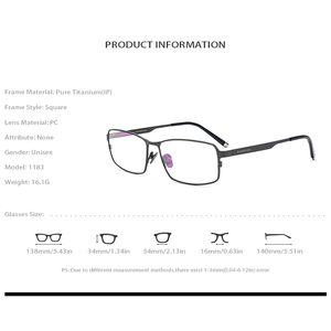 Image 5 - Oprawa okularów z czystego tytanu mężczyźni plac krótkowzroczność oprawki do okularów korekcyjnych okulary dla mężczyzn mężczyzna Vintage Ultra lekkie okulary FONEX 1183