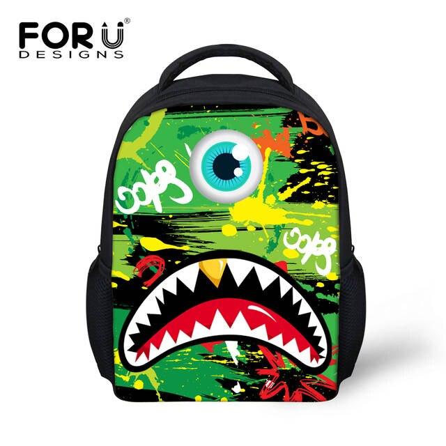 Online Shop FORUDESIGNS 3D Shark Tooth Small School Bag Fashion School  Backpack For Baby Boys Kids Schoolbags Kindergarten Schoolbag Mochila |  Aliexpress ...