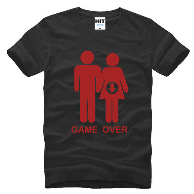 Game over baby shower invitation funny black short sleeve men t game over baby shower invitation funny black short sleeve men t shirt size s 3xl t shirt men casual cotton short sleeve in t shirts from mens clothing filmwisefo