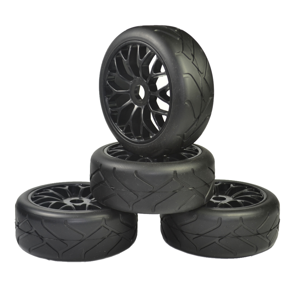 1/8 Buggy (on road tires) 17mm (for kyosho/hobao/HSP/HPI) 4pcs tires 4pcs 1 9 rubber tires