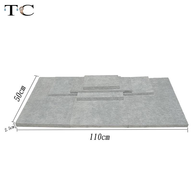 Jewelry Display Tray Grey Velvet MDF Board Substrate for Window Showcase Bottom Board Je ...