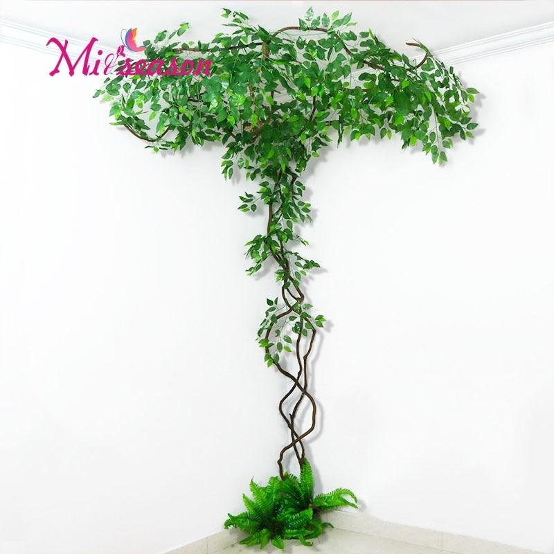 New FAI DA TE verde paesaggio artificiale foglie di decorazione di interni per il matrimonio a casa della parete del salone falso fiore pianta decorativa - 5