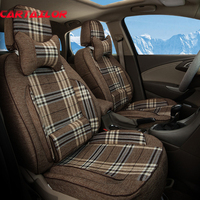 Front Rear Car Seats Fit For Audi A6 2008 Accessories Cusotm Automobile Seat Covers Supports Linen