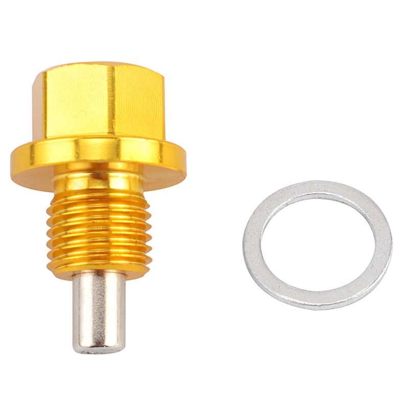 Speedwow Magnetik Bah Minyak Kacang Menguras M12 * 1.25 M12 * 1.5 M14 * 1.25 Steker Minyak Saluran Minyak Magnetik minyak PLUG NUT untuk Toyota/Nissan