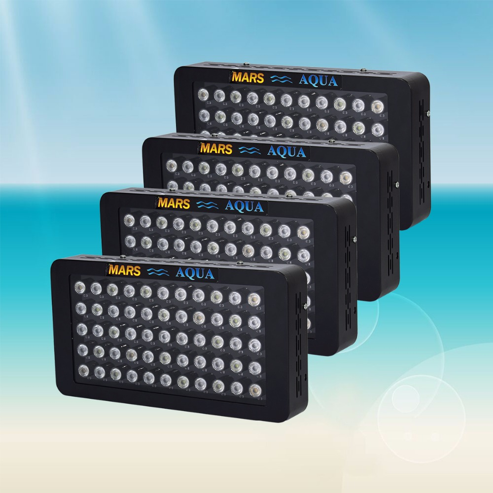 4PCS Marshydro Dimmable 165w LED Aquarium Lighting Full Spectrum For Reef Coral Marine Growing Light For Plants