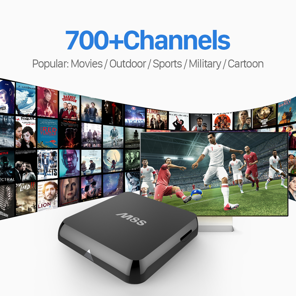 ФОТО M8S TV Box Amlogic S812 2.4G/5G WiFi HDMI Android Smart TV Box with 1Year Free 700 Leadtv IPTV Subscription Arabic Europe French