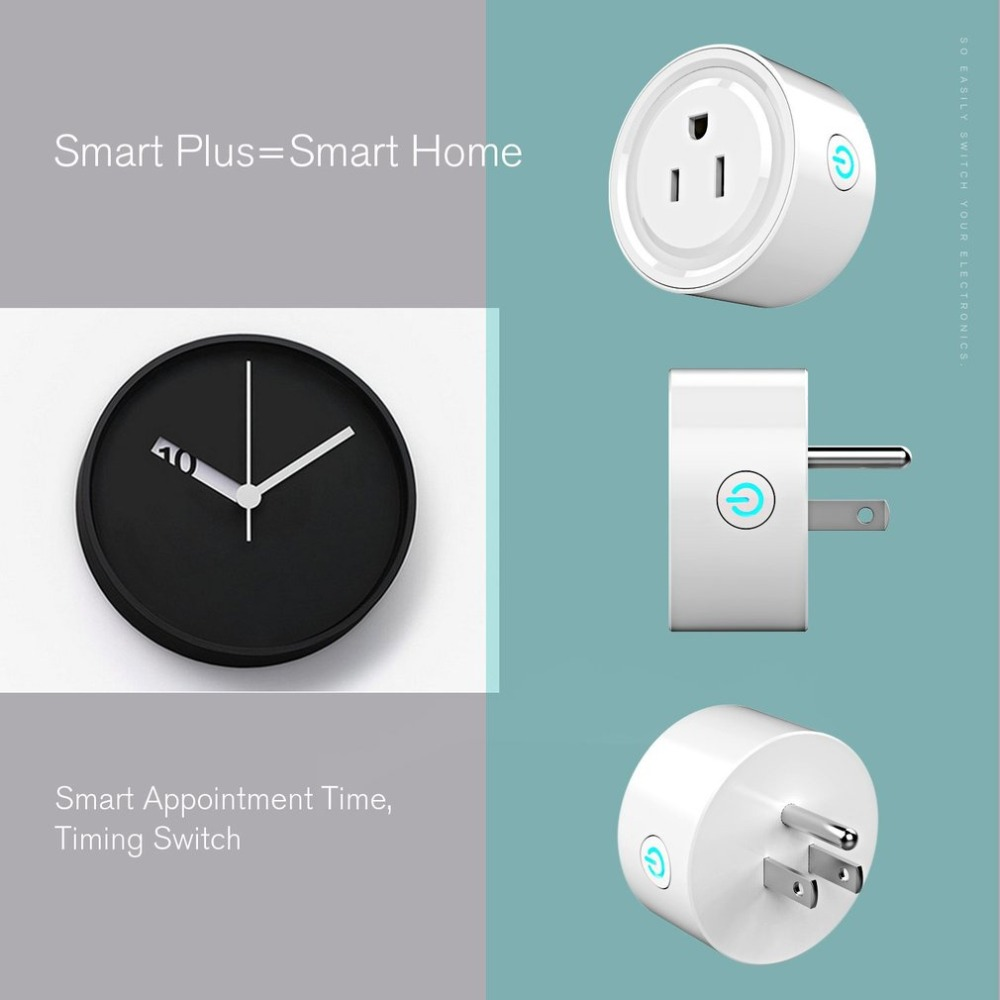 2018 New Convenient WIFI Smart Plug US Plug Smart Timing Socket Wireless Outlet control function plug for Smart Home Automation wi fi enabled mini outlets smart socket control your electric devicsmart us plug wifi smart wireless socket m 16