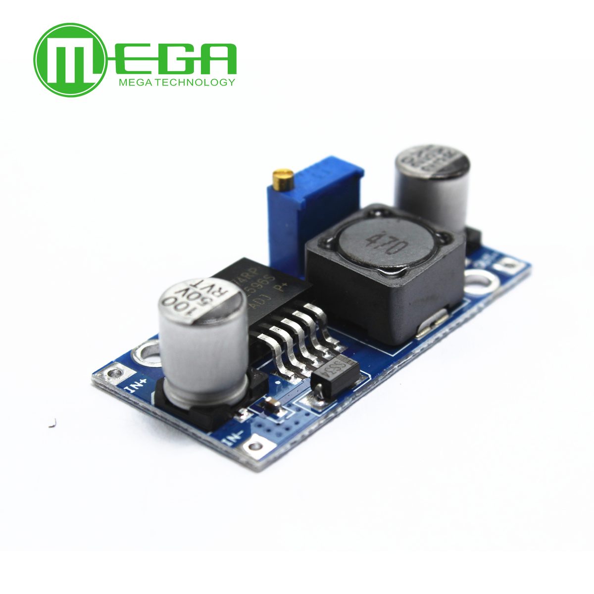 50pcs/lot LM2596S <font><b>LM2596</b></font> DC-DC Step-down module 5V/<font><b>12V</b></font>/24V adjustable Voltage regulator 3A(blue) image
