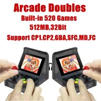 32Bit 3.0'' Mini Portable Retro Video Game Console Handheld Players Built in 520 Classic Games Support Arcade Doubles Connection