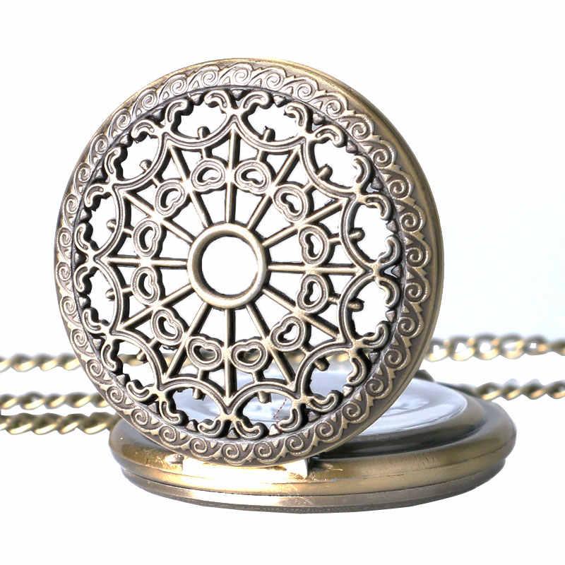 Relógio de bolso steampunk de quartzo do vintage antigo relógio de bolso aranha web oco feminino pingente colar presentes