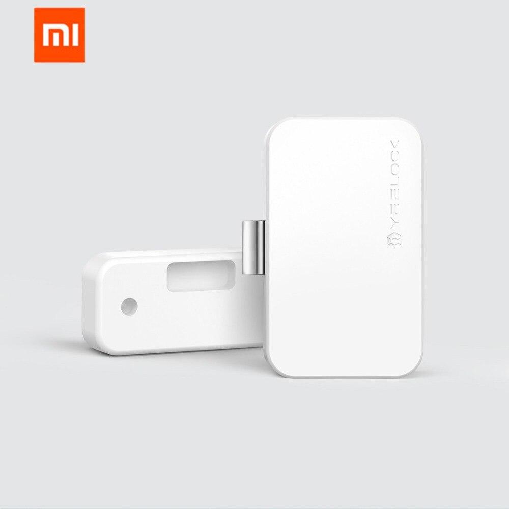 Tüketici Elektroniği'ten Akıllı Uzaktan Kumanda'de Xiaomi MIjia YEELOCK akıllı çekmece dolap kilidi anahtarsız Bluetooth APP kilidini anti hırsızlık çocuk güvenliği dosya güvenlik
