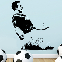 Free Shipping Wholesale Wall stickers Home Decor DIY Art Decoration PVC Vinyl Removable Art Mural Football Star Z-54