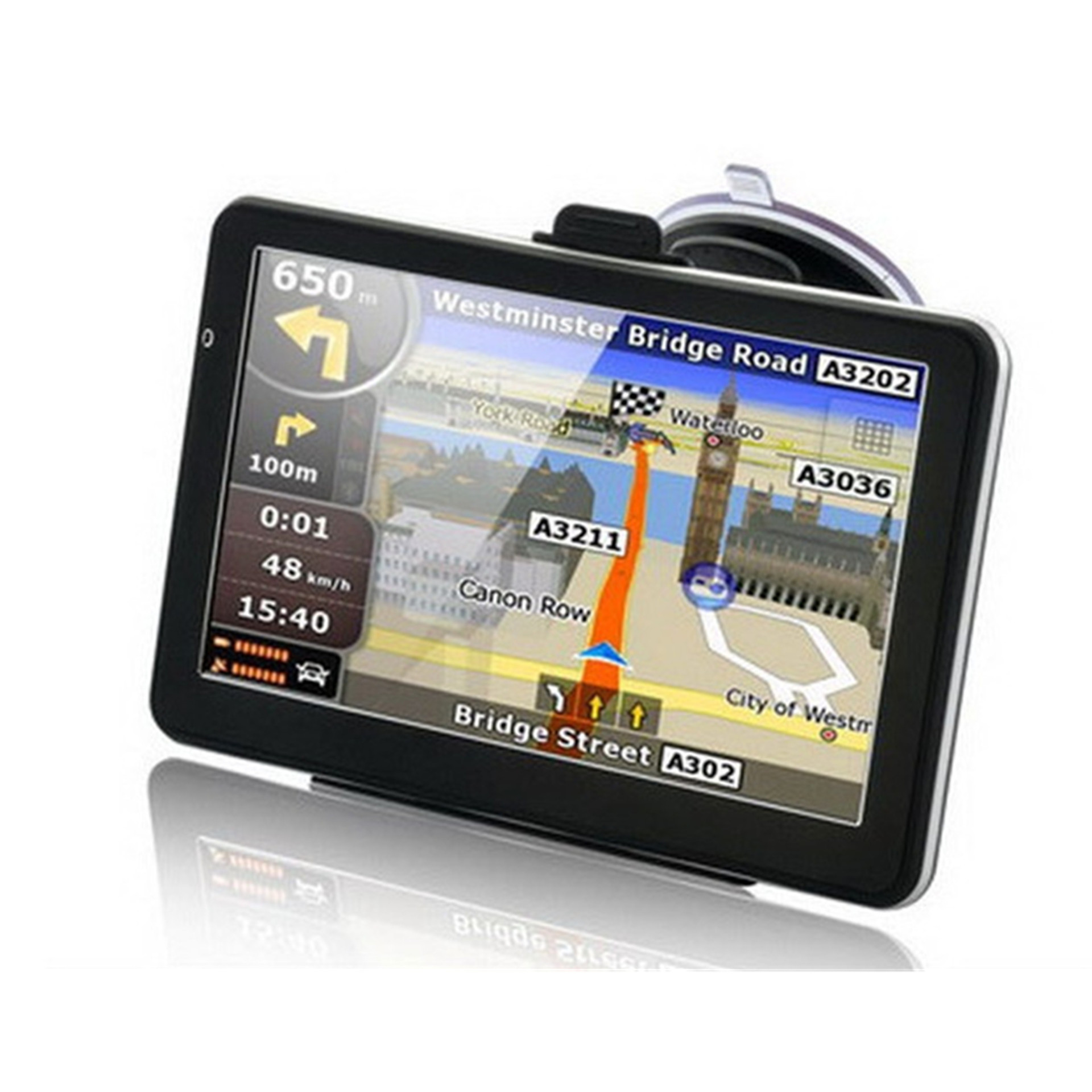 купить 7 inch HD Car GPS Navigation FM Bluetooth Map Free Upgrade Europe Sat nav Truck gps navigators automobile по цене 4444.84 рублей