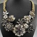 Lo nuevo magnífico moda negro rosa azul grandes babero collar de la declaración mujeres gargantilla collares y colgantes Q610 740 ~ 1
