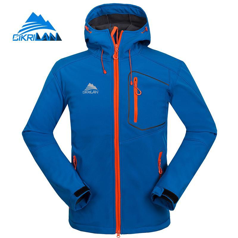 Cikrilan Mens Hiking Jackets Camping Softshell Outdoor Jacket Men Windbreaker Water Resistant Coat Winter Autumn Sport Casacos