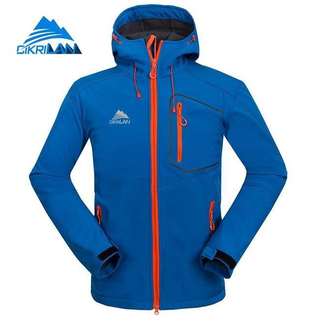 58c34cd7af Cikrilan Mens Hiking Jackets Camping Softshell Outdoor Jacket Men  Windbreaker Water Resistant Coat Winter Autumn Sport