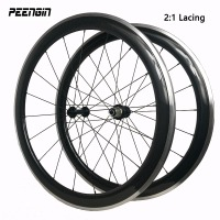 2 1 Lacing Carbon Alu Wheel 23mm 700c Clincher 38mm 50mm 60mm 90mm With Alloy Brake