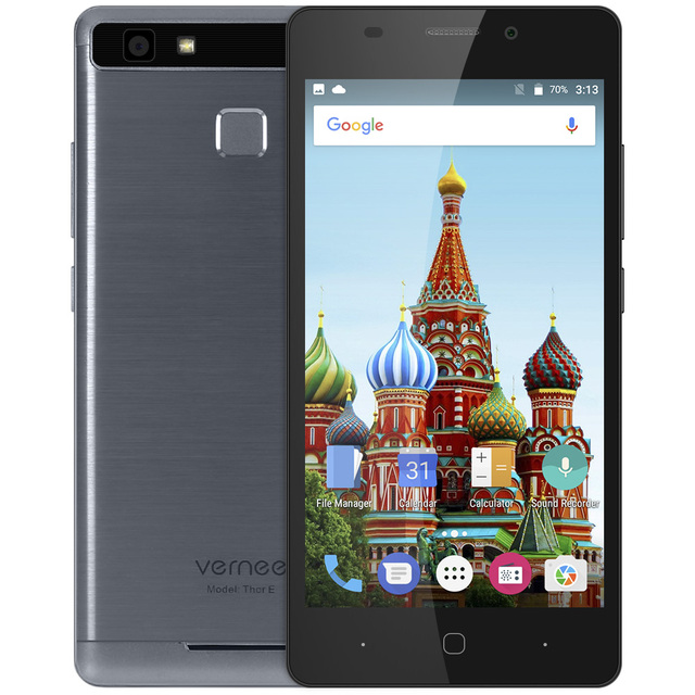 Vernee Thor E 4G Smartphone 5.0 Inch Android 7.0 MTK6753 Octa Core 1.3GHz 3GB RAM 16GB ROM 8.0MP Touch Sensor 5020mAh Battery