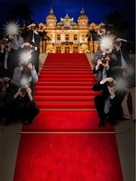 Monte Carlo Vip Red Carpet Paparazzi Staircase Palace Castle backdrop Computer print party backgrounds