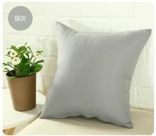 2017 Fashion Simple Solid Home/Bed/Car Sofa Cushion Cover almofada Christmas Decorative Pillows 45*45CM 3pcs/set