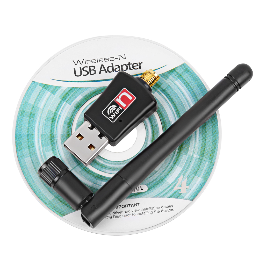 USB WiFi Adapter 300Mbps 2dB Antenna WiFi USB Ethernet Wi-Fi Dongle Network Card Mini WiFi Receiver PC Wi Fi Adapter