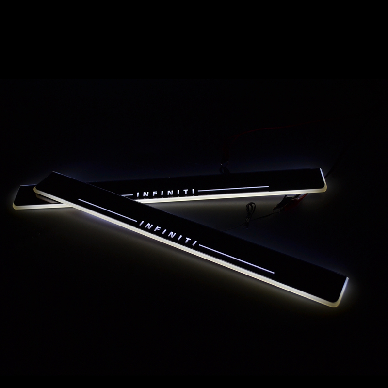 SNCN LED door sill for Infiniti Q50 Q50L 2013 2014 2015 Led moving door scuff plate