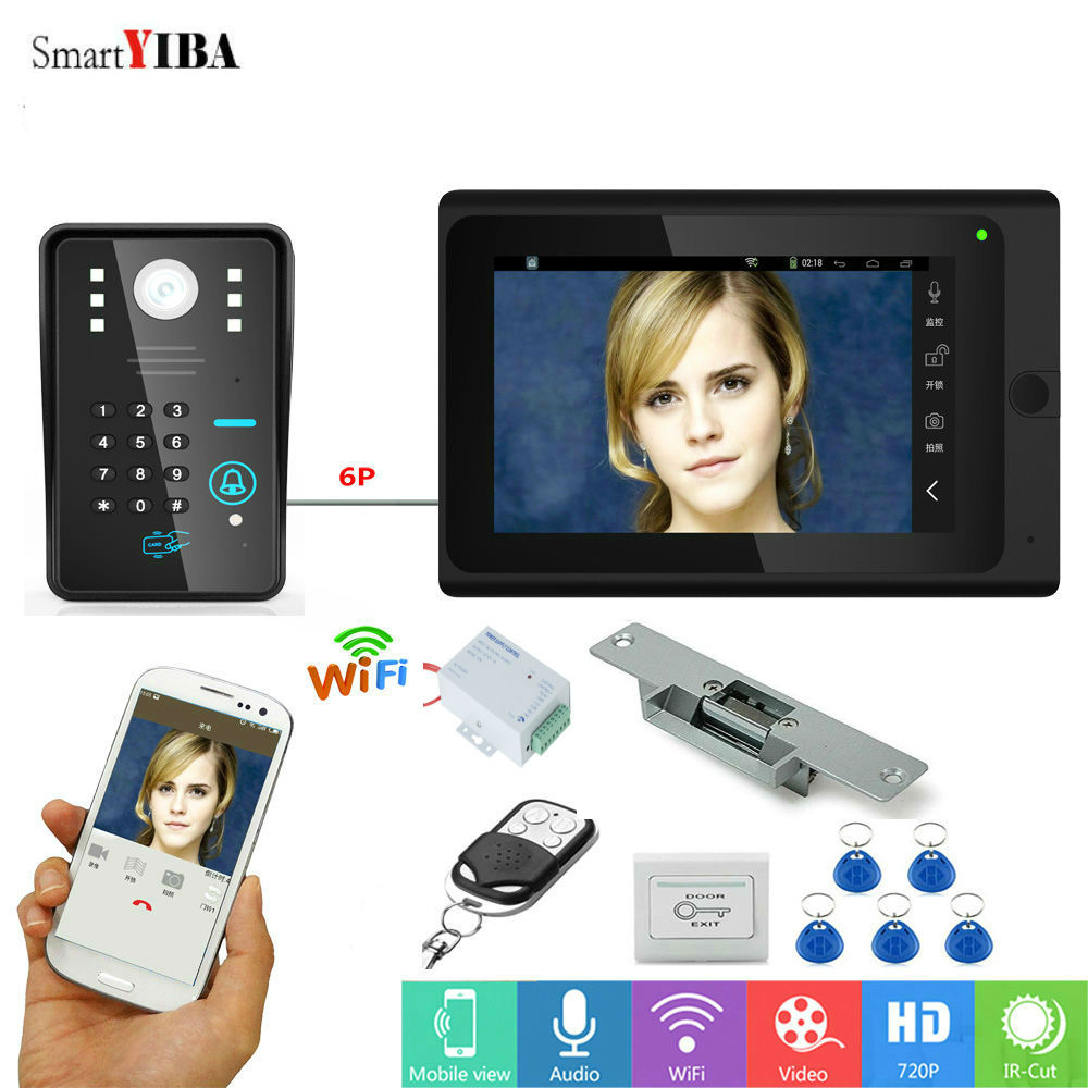 SmartYIBA APP Remote WIFI RFID Doorbell Video System Camera 7