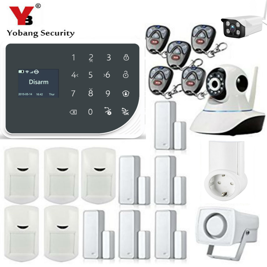 Yobang Security GSM Alarm System APP Remote Control Smart Home Intelligent GSM GPRS SMS Wifi Alarm panel gsm wifi alarm host yobang security wifi automation gsm alarm system home intelligent gsm gprs sms wifi security kits wifi camera red solar siren