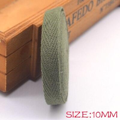 Новые цветные 10 мм шеврон хлопок ленты тесьма сельдь bonebinding ленты кружева обрезки для упаковки аксессуары DIY - Цвет: green 202