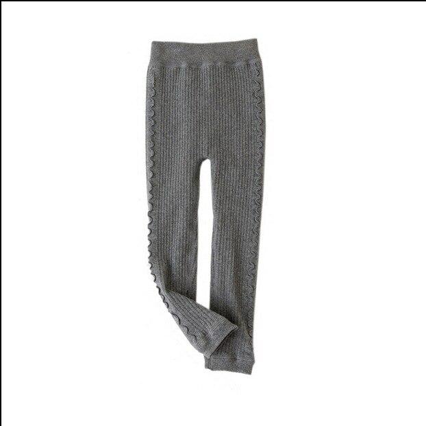 Grils Ruffle Leggings 2021 Winter Children's Plus Thick Velvet Legging Big Virgin Winter Warm Cotton Pants Girls Bottoming Pant 3