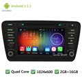 "Quad Core 16 ГБ DAB + BT RDS Android 5.1.1 8 ""HD 1024*600 3 Г Автомобильный DVD PC Player Радио Стерео Для Skoda Octavia 2014 2015 A7"