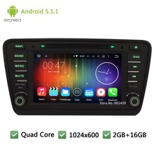 Quad Core 16GB DAB+ BT RDS Android 5.1.1 8″ HD 1024*600 3G Car DVD Player PC Radio Stereo Screen For Skoda Octavia 2014 2015 A7