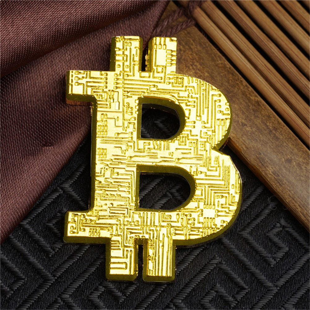 shop with crypto buy Bitcoin Logo Metal 4cm Shape pay with bitcoin