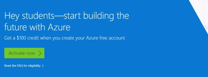 Windows Azure学生免费帐户,获得100美元的优惠!