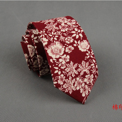RBOCOTT Floral Ties For Men Printed Cotton Tie Mens Ties 6cm Slim Neck Tie Skinny Necktie For Wedding Party 5