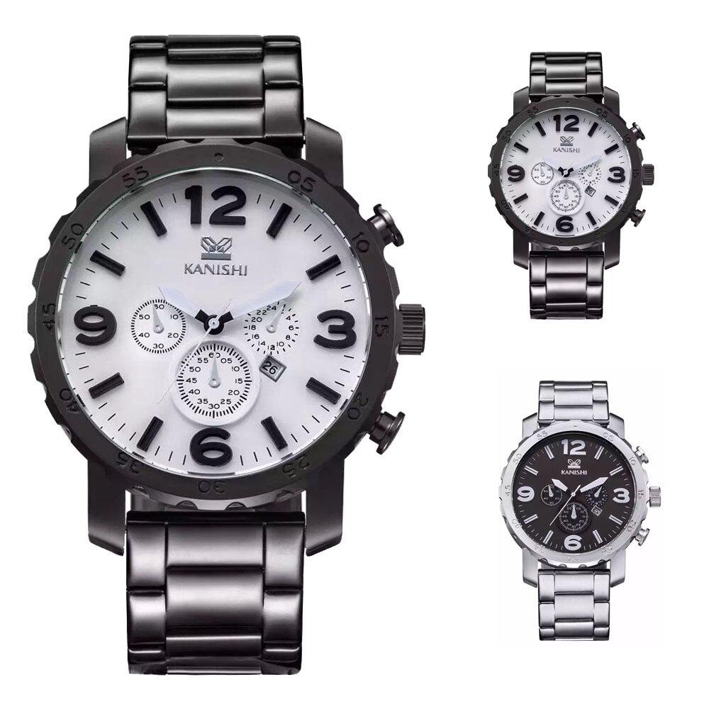 89f67908345 Kanishi homem esportes etiqueta de negócios relógio de quartzo relógio de  quartzo 2016 homens da moda relógios top marca de luxo