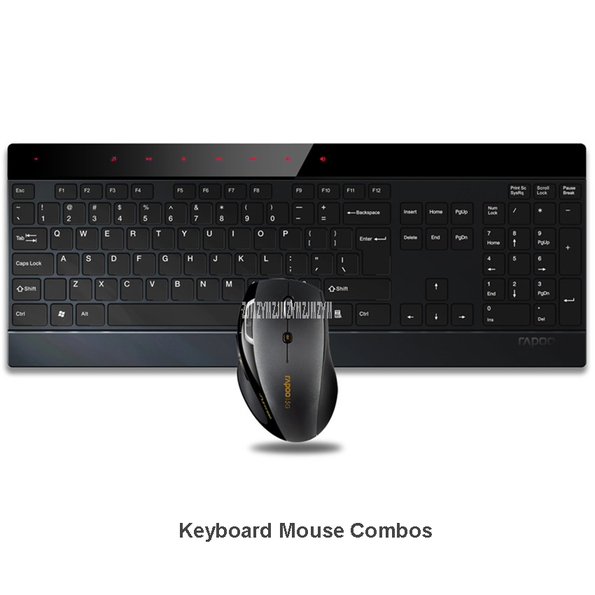 8900P 1600DPI 5G 4.0mm Ultra-Thin Intelligent Wireless Keyboard and Laser Mouse 2-in-1 Combo - IF Design Award Winner notebook caisy 1 1 60g in 5g