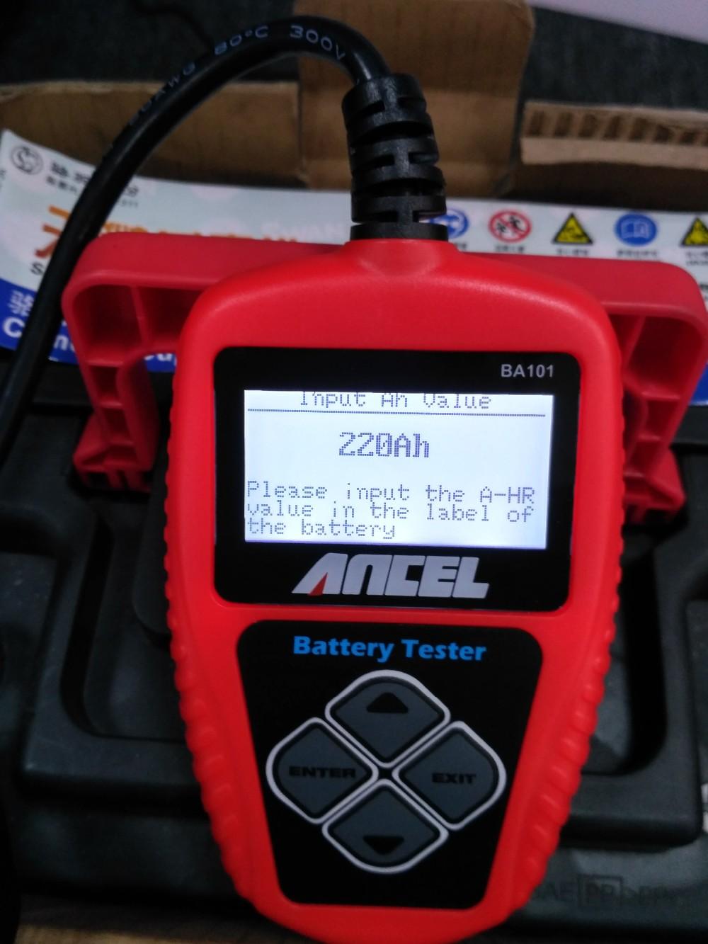 Deep Cell Battery Tester : Ancel battery tester ba automotive v auto vehicle