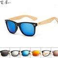 RTBOFY Madeira Óculos De Sol Dos Homens de Bambu Mulheres de Design Da Marca de Óculos De Sol Do Esporte Óculos de Proteção Óculos de Sol Espelho de Ouro Tons luneta óculo. RB501