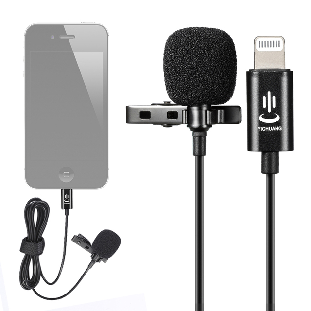 YC-LM10 Lavalier Audio Video Phone Microphone Condenser Mic Recorder for iPhone X 8 7 6 6s Plus Canon Nikon DSLR Zoom Camcorder