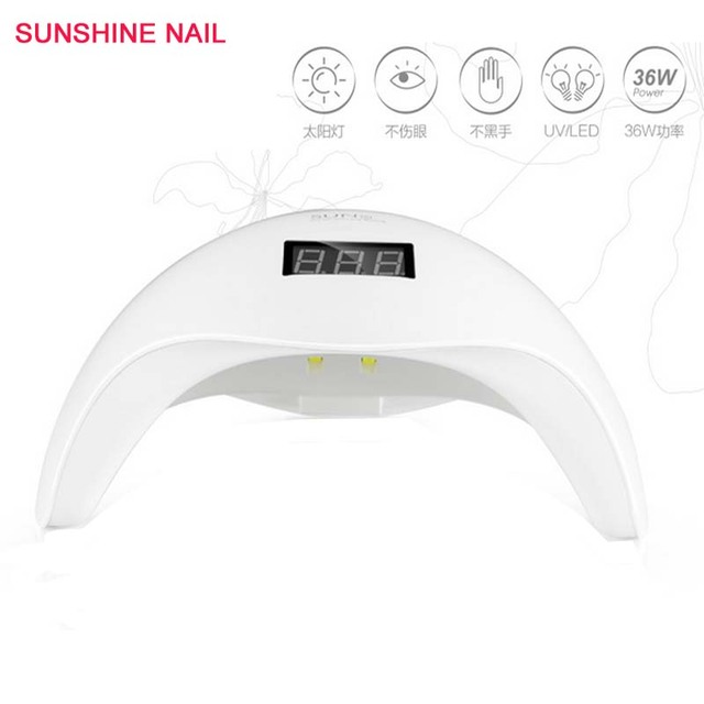 SUN 5 Nail Dryer LED UV Lamp Nail 48W Salon Makeup Cosmetic ...
