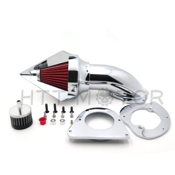 Aftermarket free shipping motorcycle parts for Kawasaki Vulcan 800 Classic 1995-2012 CHROME Cone Spike Air Cleaner filter