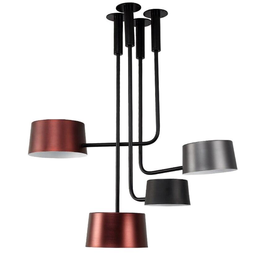 Moderne Led cuisine salle à manger et Bar pendentif lumières E27 flexion tubulaire hôtel hall salon principal chambre éclairage Luminaire décoratif