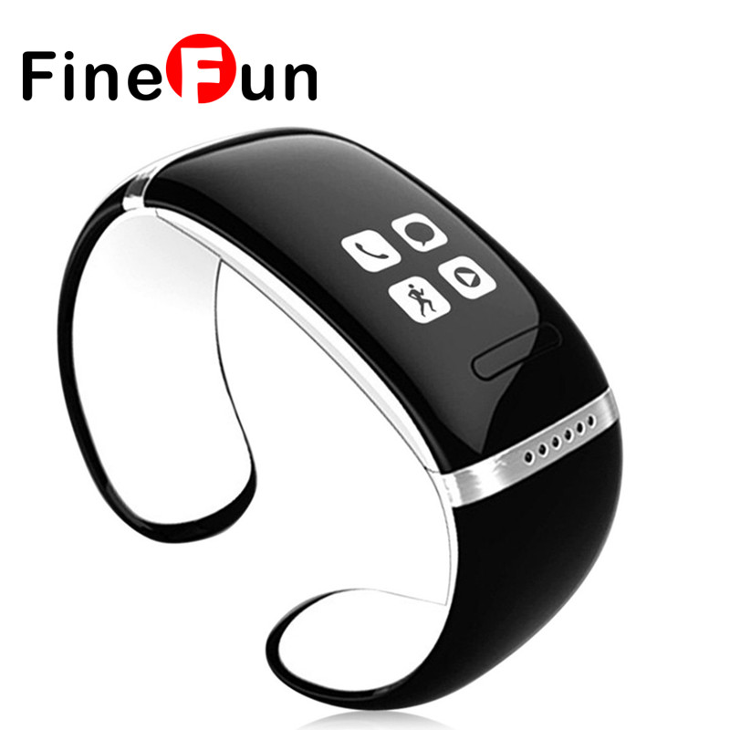 FineFun L12S Smartband OLED Screen Bluetooth Fitness Bracelet Women Smart Wristband Intelligent Band For IOS Android