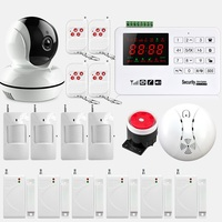 Smart Alarm Wireless GSM Alarm System 433MHz Home Burglar Security Alarm System Touch Keyboard WiFi Camera