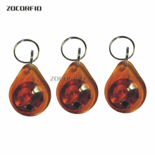 Free Shipping 100pcs  13.56MHz M-F1 IC Card, Agate shape, 13.56MHZ Keychain,100pcs/lot
