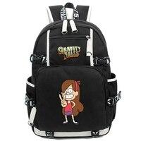 Gravity Falls Laptop Backpack Cosplay Mabel Pines Character School Bag Shoulder Bag Travel Bag 17 Inch